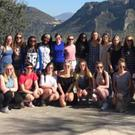 The large group of St. Vincent's students who enjoyed a trip to southern Italy recently.