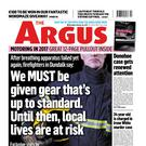 The front page of The Argus from January this year