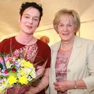 Collette Farrell, who opened the exhibition, and Irene Woods