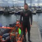 Swimmer Alan Corcoran will be in Louth waters this week on his way around Ireland