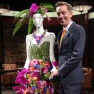 Late Late Show presenter Ryan Tubridy with the AOIFA creations that were featured on the programme ahead of last weekend's Bloom Festival