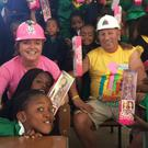 Karen McArdle and Martin McLoughlin during last year's building blitz in South Africa