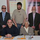 Committee members Oliver Morgan, Patricia Wright, Tracey Lee, Damien Larkin, Damien Mackin, Joseph Reilly and Olivia Shiel at the launch of 'disAbility Louth' held in the Crowne Plaza Hotel