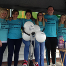 Members of the Specsavers Dundalk team at the static cycle fundraiser