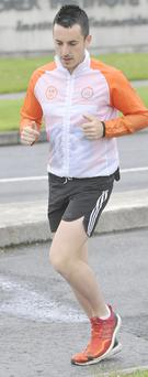 Shane Finn setting out on his ninth marathon at DkIT during his attempt to complete 24 Marathons in 24 days to raise €100,000 for Spina Bifida Hydrocephlaus Ireland.