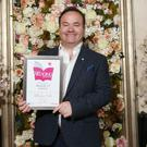 Bellingham Castle owner Patrick Corscadden accepted the award for Unique Venue of the Year. Picture: Darren Kidd/Presseye