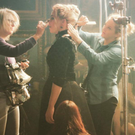 Sevlene Roddy Picone, checking Billie Piper's hair on the set of Penny Dreadful