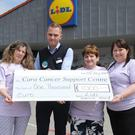 Lidl make a donation to the Dundalk Cara Cancer Support Centre
