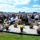 Large crowds at the blessing of the graves. Photos: Anthony O'Hagan