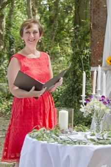 Celebrant Edel O'Connell at Seagrave House in Dunany