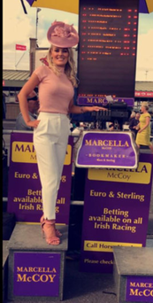 Dundalk bookie Marcella McCoy at the Galway Races last week