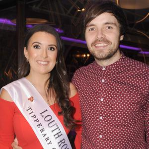 Louth Rose, Aoife Heffron, with boyfriend, Kevin White at Aoife's 'Rose of Tralee send-off night' in The Rum House