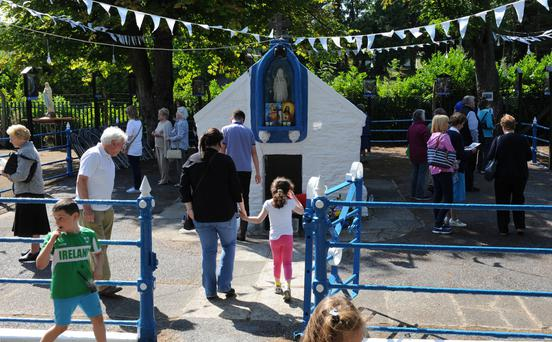 Bright sunshine and a wonderful attendance at Ladywell 2016. Photo: Ken Finegan