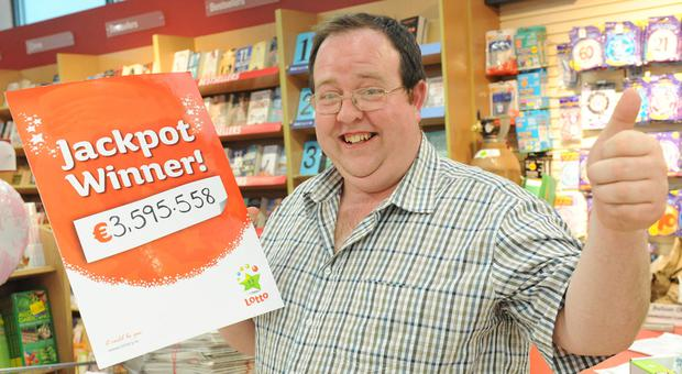 Simon Fagan from Darver who won a Lotto Jackpot of €3,595,558