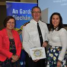 Chief Supt. Sean Ward with Councillors Maeve Yore, Emma Coffey and Maria Doyle at the launch of the dedicated e-mail facility for public representatives based in Louth held in the Grove House, Dunleer. Picture: Ken Finegan