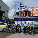 Members of the Gardai with members of the RNLI, one of two charities to benefit