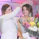 Last year's winner, Ciara Barry, with MaryRose McCarragher, who was crowned the Carlingford Oyster Pearl for 2017 in The Four Seasons Hotel on Sunday night
