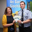 At the launch of Hospital Watch in Our Lady of Lourdes last Thursday were Jackie Rooney who is chair of the Hospital Watch Committee and Garda Patrick Sheridan