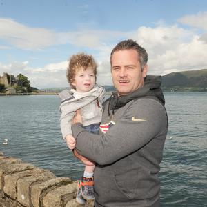 Noah and Adam Doyle pictured in Carlingford, ahead of the Up the Hill for Jack and Jill on September 30