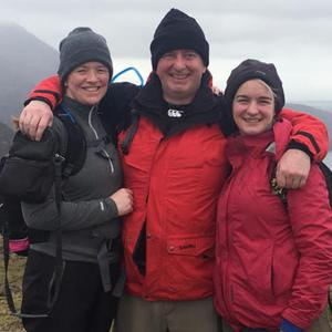 Nuala, Seamus and Charlotte who plan to climb to Mount Everest's base camp next May
