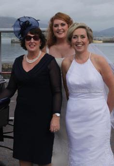 Michelle Hanlon (back) with her mum Claire and sister Lorraine