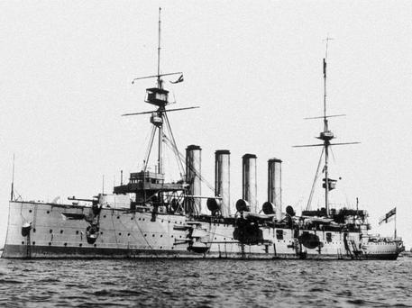 HMS Cressy on which Chief Petty Officer Joseph Reynolds from Togher was lost at sea.