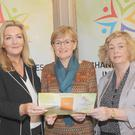 Gina McIntyre (left), CEO of SEUPB, with Mairead McGuinness, MEP and Aileen O'Donoghue, The Changing Lives Initiative Steering Group at the launch of The Changing Lives Initiative held in The Carrickdale Hotel