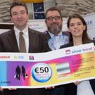 Members of Dundalk Credit Union promoting the Shop Local Vouchers with Michael Gaynor, Dundalk Chamber President