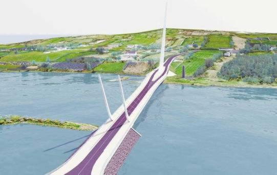 The proposed Narrow Water Bridge project.