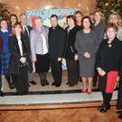 Among those pictured at the ceremony were Linda McCusker, Deirdre McEnteggart, Frank Cooney, Rachel McNally, Aoife McGeough, Parents' Council Representative, Pauline Reid, Dr. Don Hodgers, Sr. Joan Watters, Fr. Mark O'Hagan, Sisters of Mercy Provincial Leadership Team Representative Sr. Philomena Horner, Dr. Orla Walsh, Principal Deirdre Matthews, Amy O' Donoghue
