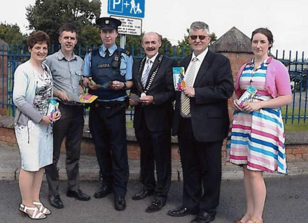 Catherine Duff - Louth County Council, Acting Director of Services, Adrian O'Sullivan, Louth County Council Road Safety Officer, Garda Paul Burke, Michael Gaynor, Chamber President, Paddy Malone, PRO Dundalk Chamber and Sorcha Brophy, An Taisce Green Schools Co-ordinator.