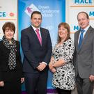 Kathleen Fitzsimmons, Down Syndrome Ireland; Daniel O'Connell, MACE Sales Director; Annette Quigley, MACE Carrickmacross Road, Dundalk and John Tully, MACE Regional Manager, at the announcement of the new charity partnership. MACE has set out to raise €300,000 for Down Syndrome Ireland over the next two years.