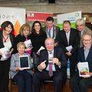 Catherine McHugh, Vice Chair Louth Citizens Information Services, Joan Martin, CE Louth County Council, Amanda Branigan, Louth County Library Services, Cllr Colm Markey, Cathaoirleach Louth County Council, Francis McArdle, HSE, Rodd Bond, Director Netwell Casala Centre DKIT. Front (l-r) Marie Hayes, Manager, Louth Citizens Information Services, Gavin Duffy, Dave Donnelon, Louth Citizens Information Services