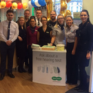 Pictured are store employees (L-R) Daniel Kerr, Kerri Rafferty, Gavan Oliver, Nicole Derry, Stephen Arrowsmith, Martina Kelly, Hamilton Smith, Sharon Fitzgerald, Christine McDonald, La-Reina McGlobin