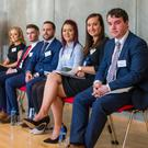 Pictured are the DkIT team (L-R): Siobhán Sweeney, Nicholas McKenna, Michael Byrne, Claire-Louise Clarke McGinn, Sinead Heery, John McNulty