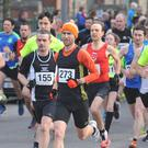 Darragh Greene leads from the start in Fitzer's 5K. Picture: Ken Finegan