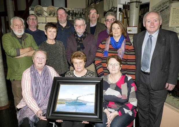 SS Dundalk Centenary Commemorative Committee. Front: Audrey Tuite, Anne Howard, Betty Cleary (middle) Charley McCarthy, Marie Agnew, Kevin O'Neill, Jacinta Kerley, Jim Kerley. Back row (from left) Alan Bogan, Brian Walsh (Museum Curator) Brendan McQuaid, Damien Higgins