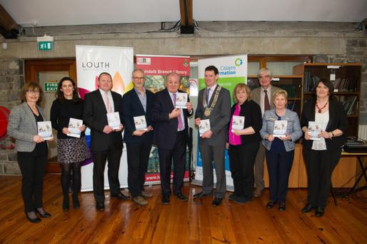 At the launch of the guide to the Nursing Homes Support Scheme compiled by Louth Citizens Information Service at Louth County Library were Yvonne O'Brien Louth Library Service, Amanda Brannigan Louth Library Service, Francis McArdle HSE, Dave Donellon Louth CIS, Gavin Duffy, Colm Markey Cathaoirleach LCC, Joan Martin CE LCC, Rodd Bond DkIT, Mary Hayes Louth CIS and Catherine McHugh, Louth CIS
