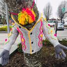 Tree hugging creation on display at Market Square