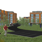 An illustration of the proposed development on the Demesne