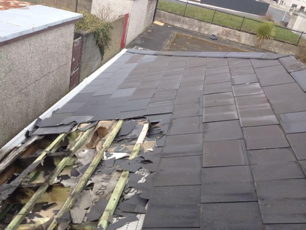 Damage to the roof of the premises of Cuidigh Linn