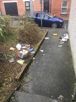 Dumped litter in Mary Street South