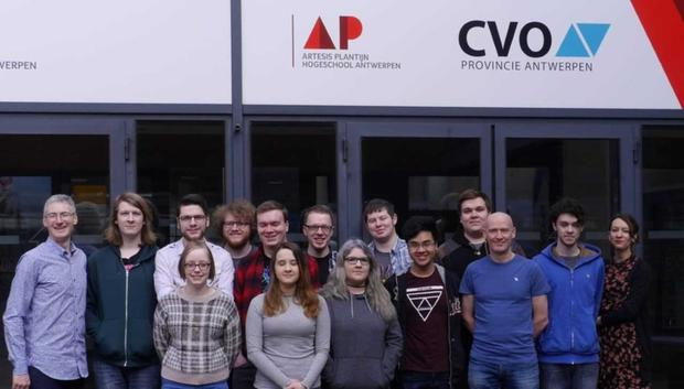 DkIT BSc (Honours) Computing in Games Development students, who travelled with lecturers, Derek O'Reilly and Shane Dowdall, to Antwerp, Belgium, to take part in the Erasmus+ funded project 'Citizen School, Serious Gaming for a better Europe'