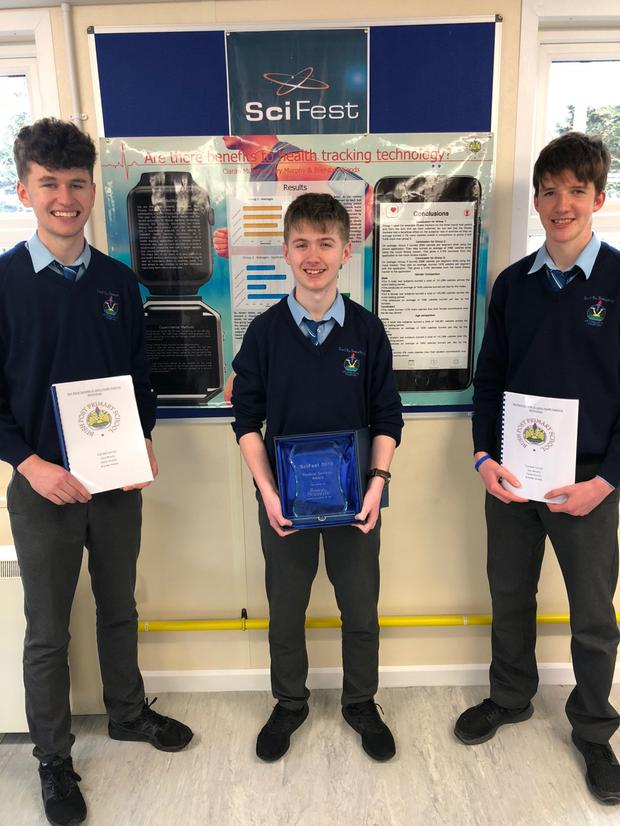 Ciarán Murphy, Gary Murphy and Brendan Woods enjoyed Sci Fest