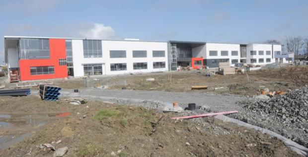 Construction work continues at the school