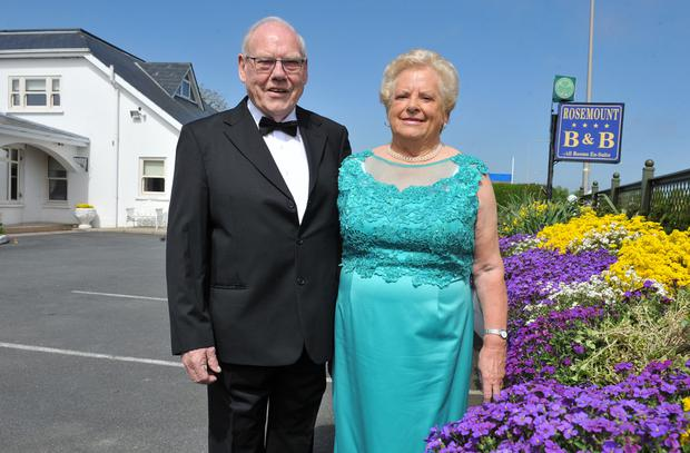 John and Maisey Meehan, Rosemount B&B who were awarded the Irish Hospitality Awards Borders Winner of the Bed and Breakfast. Picture: Ken Finegan