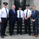 Asst. Commissioner Barry O'Brien, Minister Charlie Flanagan, Supt. Gerry Curley, Chief Supt. Christy Mangan and Peter Fitzpatrick TD