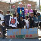 Karen McArdle and Martin McLoughlin, taking part in last year's building programme in South Africa.