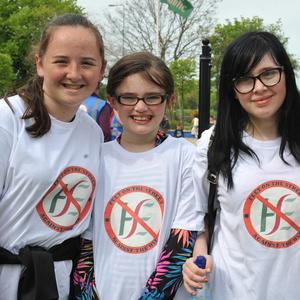 Carly, Annabel, Grace and Melissa Gartland at the Cervical Cancer Scandal protest held in Dundalk. Picture: Ken Finegan