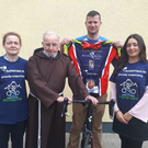 Pictured left-right: Deirdre Doyle (Myhomecare), Brother Kevin Crowley (Capuchin Centre), Gary Moran (Cycle committee) and Shannan Carroll (Myhomecare)